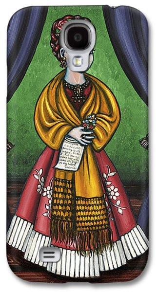 Diego Rivera Galaxy S4 Cases - Curtains for Frida Galaxy S4 Case by Victoria De Almeida