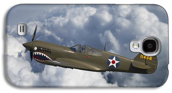 Curtiss Galaxy S4 Cases - Curtiss P-40 Warhawk Flying Tigers Galaxy S4 Case by Adam Romanowicz