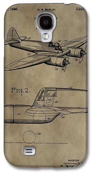 Curtiss Galaxy S4 Cases - Curtiss-Wright Airplane Patent Galaxy S4 Case by Dan Sproul
