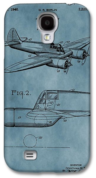Curtiss Galaxy S4 Cases - Curtiss-Wright Patent Blue Galaxy S4 Case by Dan Sproul