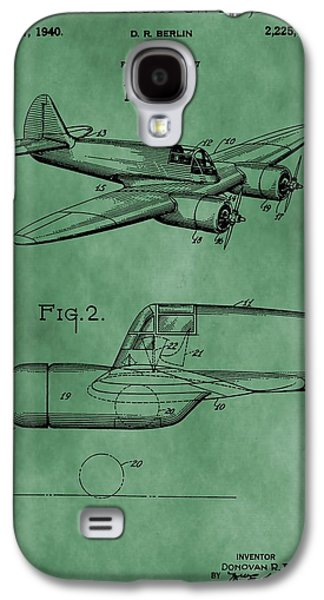 Curtiss Galaxy S4 Cases - Curtiss-Wright Patent Green Galaxy S4 Case by Dan Sproul