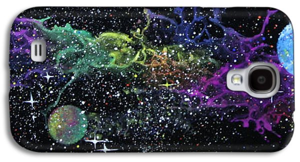 Outer Space Glass Galaxy S4 Cases - Curved Space Galaxy S4 Case by Wolfgang Finger