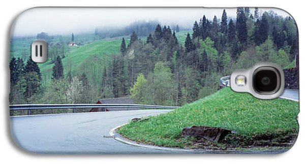 Mountain Road Galaxy S4 Cases - Curving Road Switzerland Galaxy S4 Case by Panoramic Images