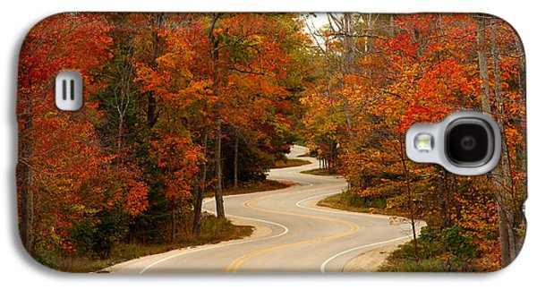 Autumn Landscape Photographs Galaxy S4 Cases - Curvy Fall Galaxy S4 Case by Adam Romanowicz
