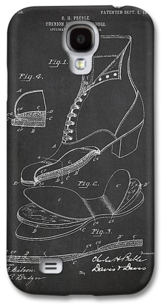 Shoe Digital Art Galaxy S4 Cases - Cushion Insole For shoes Patent Drawing From 1905 Galaxy S4 Case by Aged Pixel