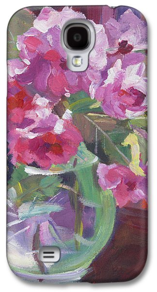 Cut Flowers Galaxy S4 Cases - Cut Flowers in Glass Galaxy S4 Case by David Lloyd Glover