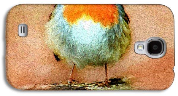House Pet Digital Art Galaxy S4 Cases - Cute Bird Galaxy S4 Case by Yury Malkov