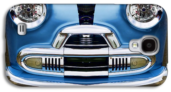 Clever Galaxy S4 Cases - Cute Little Car Faces Number 4 Galaxy S4 Case by Carol Leigh
