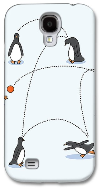 Adorable Digital Art Galaxy S4 Cases - Cute Penguin Art Galaxy S4 Case by Christy Beckwith