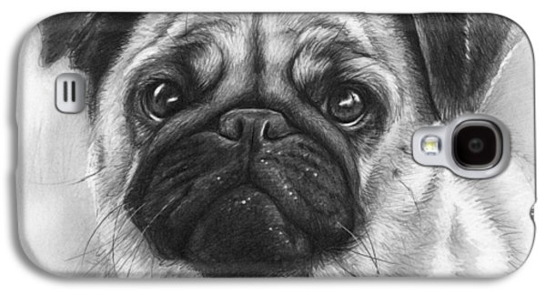 Cute Pug Galaxy S4 Case by Olga Shvartsur