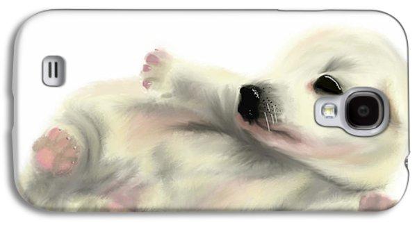 Puppy Digital Galaxy S4 Cases - Cute Puppy - No background Galaxy S4 Case by Beverley Brown