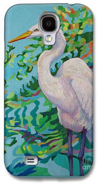 Waterscape Galaxy S4 Cases - Egret  AMELIA Galaxy S4 Case by Sharon Nelson-Bianco