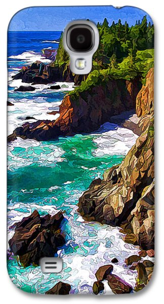 Coastal Maine Galaxy S4 Cases - Cutler Coast White Water - Painterly Galaxy S4 Case by Bill Caldwell -        ABeautifulSky Photography