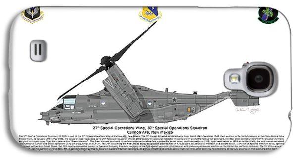 Iraq Prints Galaxy S4 Cases - CV-22B Osprey 20th SOS Galaxy S4 Case by Arthur Eggers