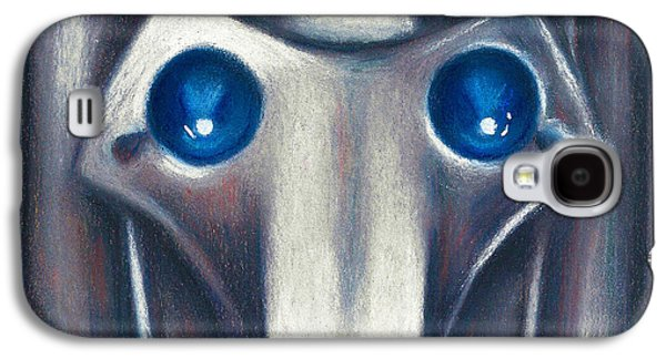 Science Fiction Pastels Galaxy S4 Cases - Cyberman Galaxy S4 Case by Connie Mobley Johns