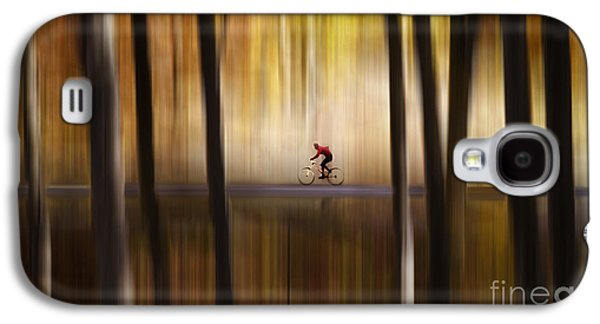 Merging Galaxy S4 Cases - Cyclist in the forest Galaxy S4 Case by Yuri Santin