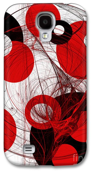 Abstract Digital Mixed Media Galaxy S4 Cases - Cyclone Circle Abstract Galaxy S4 Case by Andee Design