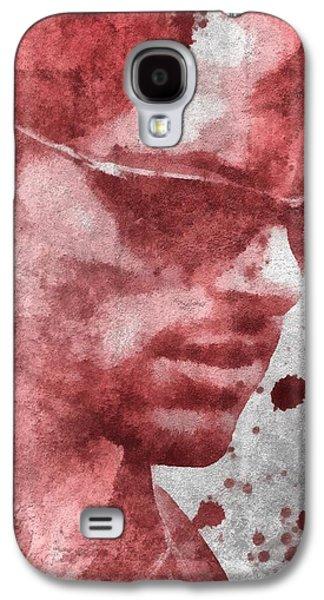 Cyclops X Men Paint Splatter Galaxy S4 Case by Dan Sproul