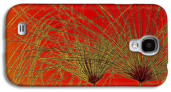 Papyrus Galaxy S4 Cases - Cyperus Papyrus Abstract Galaxy S4 Case by Ben and Raisa Gertsberg