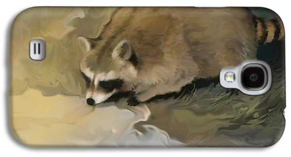 Raccoon Digital Art Galaxy S4 Cases - Cypress Raccoon Galaxy S4 Case by Curtis Chapline