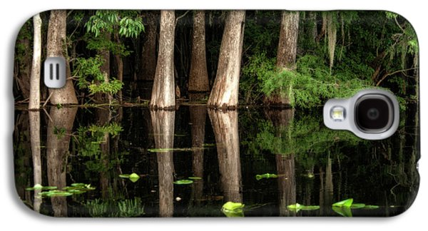 Cypress Trees In Suwanee River Galaxy S4 Case by Sheila Haddad