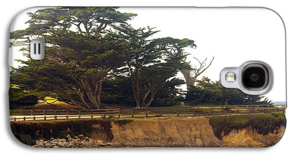 Bridge On Highway One Galaxy S4 Cases - Cypress Trees On 17 Mile Drive Galaxy S4 Case by Barbara Snyder