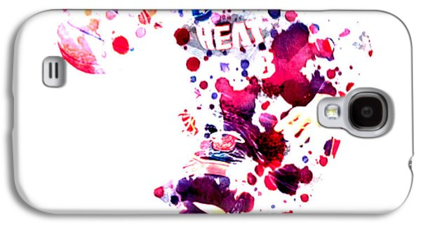 Dwyane Wade Galaxy S4 Cases - D Wade Galaxy S4 Case by Brian Reaves