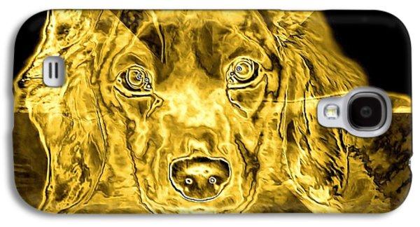 Dachshund Digital Galaxy S4 Cases - Dachshund Art Galaxy S4 Case by Maria Urso