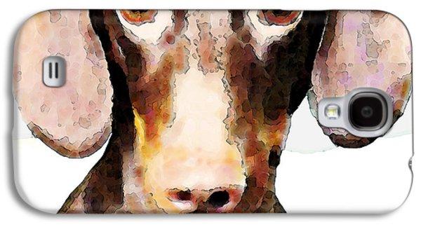 Animal Lover Digital Art Galaxy S4 Cases - Dachshund Art - Roxie Doxie Galaxy S4 Case by Sharon Cummings