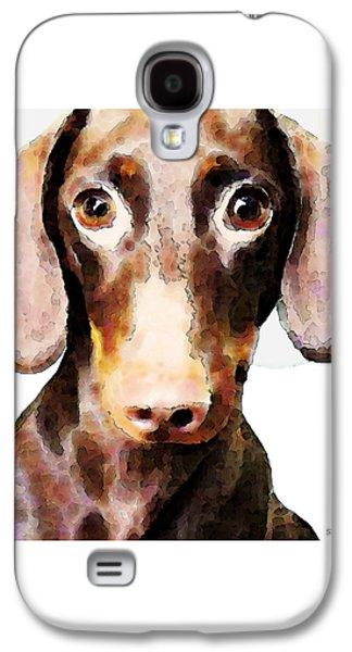 Dachshund Digital Galaxy S4 Cases - Dachshund Art - Roxie Doxie Galaxy S4 Case by Sharon Cummings