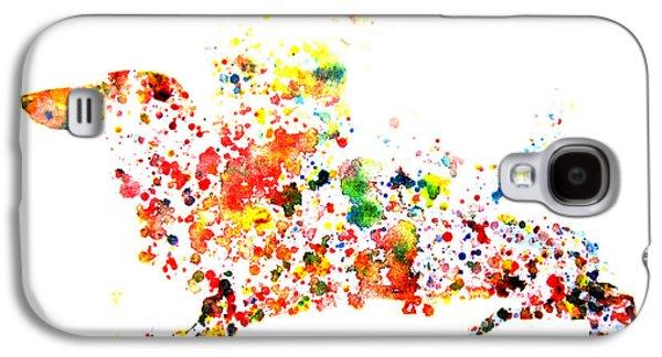 Dachshund Digital Art Galaxy S4 Cases - Dachshund Galaxy S4 Case by Brian Reaves