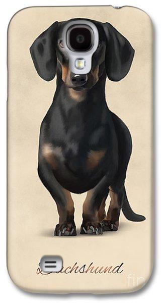 Puppies Digital Galaxy S4 Cases - Dachshund Galaxy S4 Case by Gosia K