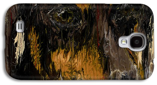 Modern Abstract Sculptures Galaxy S4 Cases - Dachshund Galaxy S4 Case by Scott Lindner