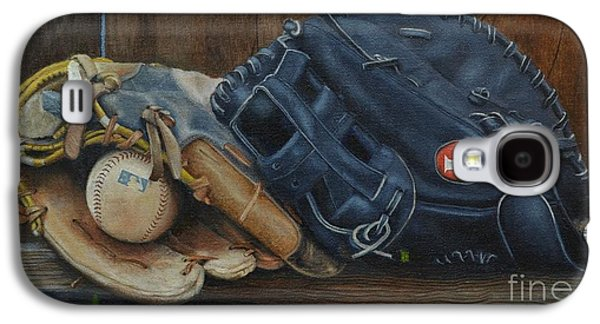 Phillies Paintings Galaxy S4 Cases - Lets play catch Galaxy S4 Case by Ralph Taeger