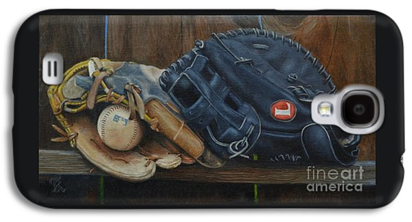 Baseball Glove Paintings Galaxy S4 Cases - Lets play catch Galaxy S4 Case by Ralph Taeger
