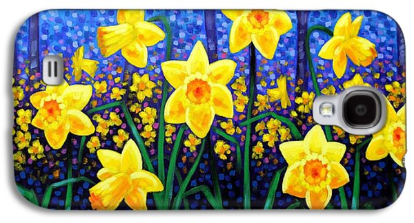 Perspective Paintings Galaxy S4 Cases - Daffodil Dance Galaxy S4 Case by John  Nolan