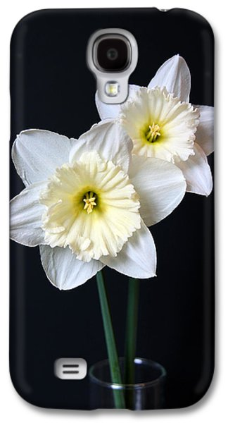 Botanical Galaxy S4 Cases - Daffodil Flowers Still Life Galaxy S4 Case by Jennie Marie Schell