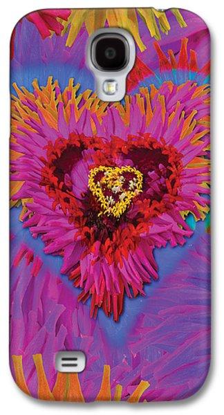 Alixandra Mullins Galaxy S4 Cases - Dahlia Rainbow Galaxy S4 Case by Alixandra Mullins