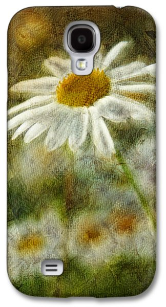 Floral Digital Art Galaxy S4 Cases - Daisies ... again - p11at01 Galaxy S4 Case by Variance Collections