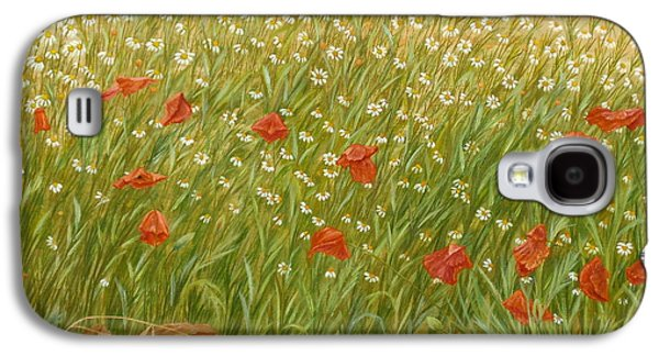 Cocoon Galaxy S4 Cases - Daisies and Poppies Galaxy S4 Case by Angeles M Pomata
