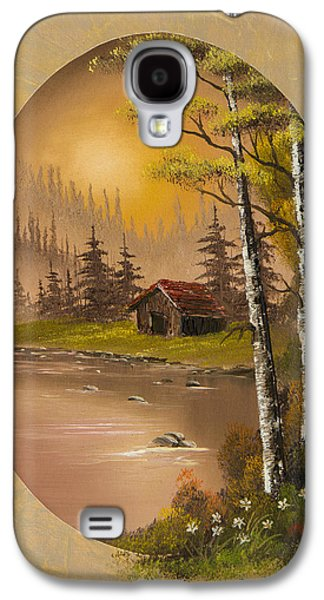 Bob Ross Paintings Galaxy S4 Cases - Flowers at Sunrise Galaxy S4 Case by C Steele