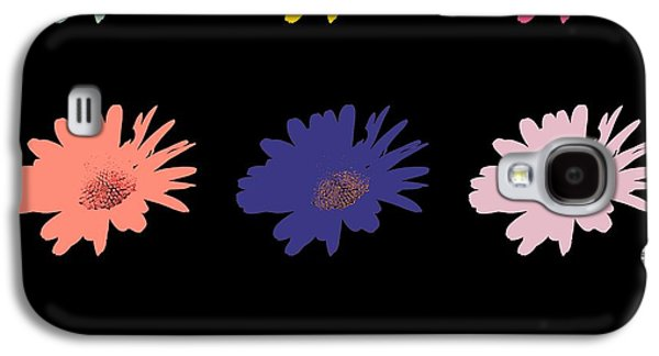 Garden Scene Mixed Media Galaxy S4 Cases - Daisy flower in Pop Art Galaxy S4 Case by Toppart Sweden