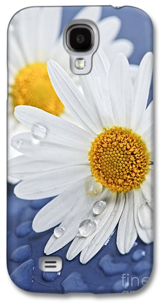 Concept Photographs Galaxy S4 Cases - Daisy flowers with water drops Galaxy S4 Case by Elena Elisseeva
