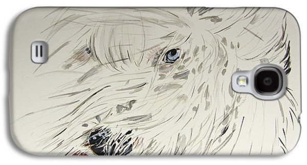 Windblown Paintings Galaxy S4 Cases - Daisy in the snow Galaxy S4 Case by Carol Blackhurst