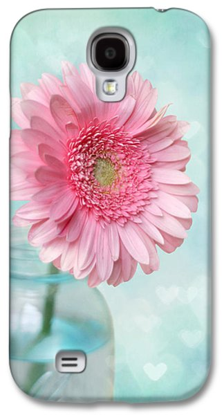 Mason Jars Galaxy S4 Cases - Daisy Love Galaxy S4 Case by Amy Tyler