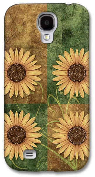 Flower Design Galaxy S4 Cases - Daisy Quatro v12c03 Galaxy S4 Case by Variance Collections