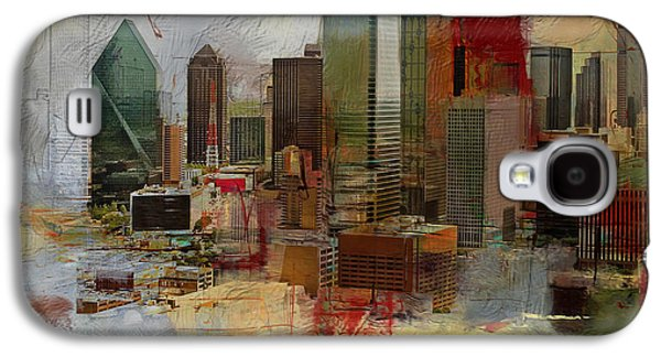 Dallas Skyline 003 Galaxy S4 Case by Corporate Art Task Force