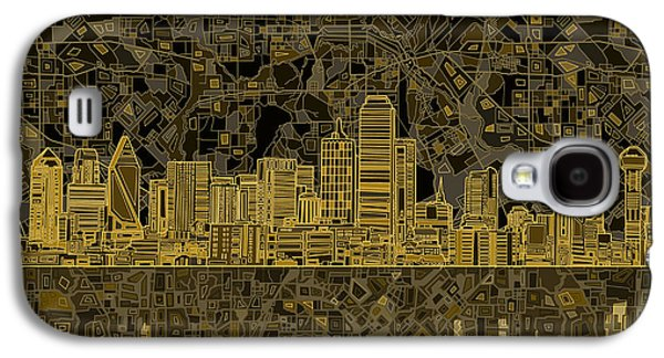 Abstract Digital Digital Galaxy S4 Cases - Dallas Skyline Abstract 3 Galaxy S4 Case by MB Art factory