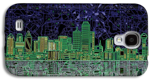Recently Sold -  - Abstract Digital Digital Galaxy S4 Cases - Dallas Skyline Abstract 4 Galaxy S4 Case by MB Art factory
