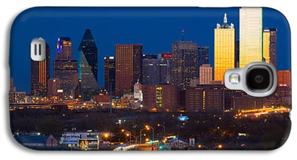 Dallas Skyline Panorama Galaxy S4 Case by Inge Johnsson